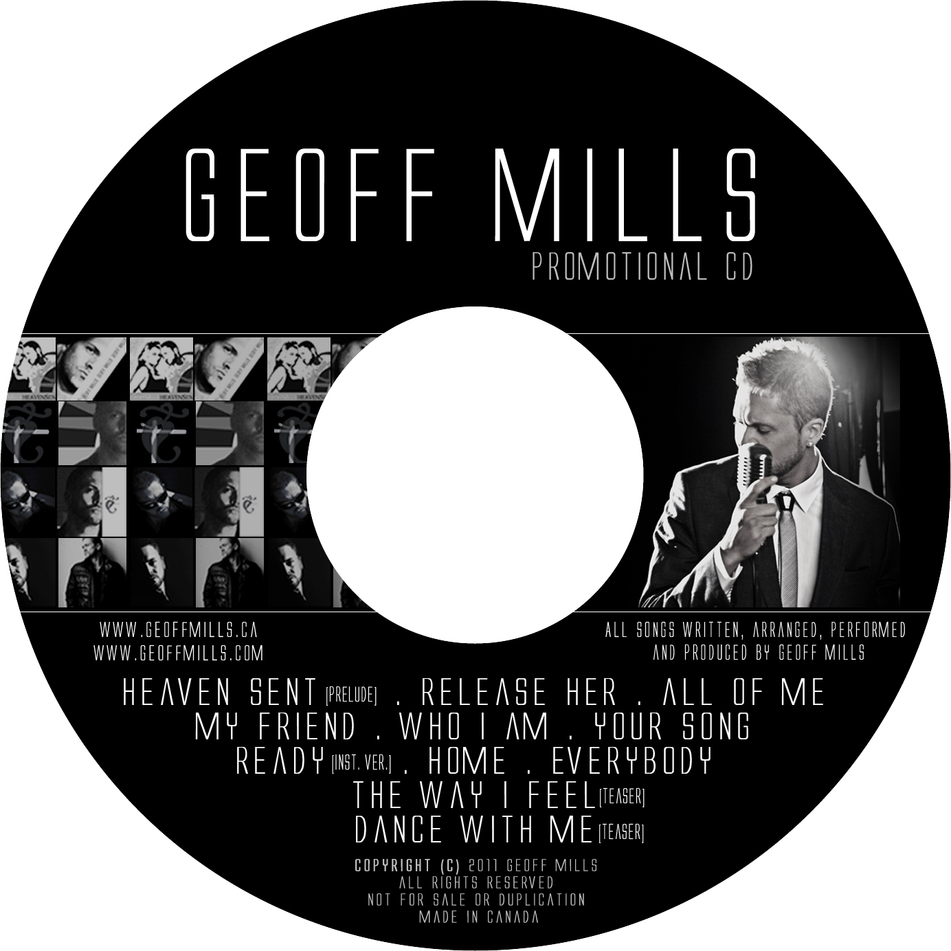 Geoff Mills - Promotional CD [NOV11]